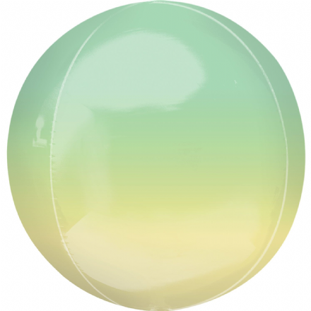 Ombre Green/Yellow ORBZ Helium Foil Balloon